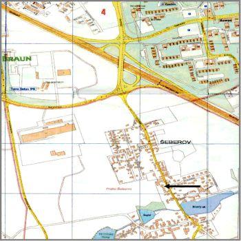 Mapa Šeberov